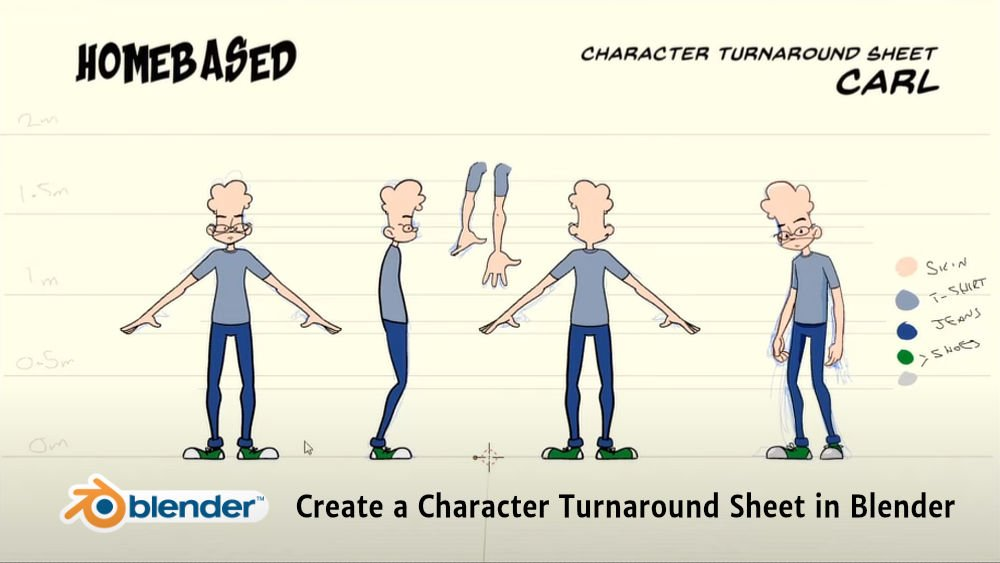 Create a Character Turnaround Sheet in Blender