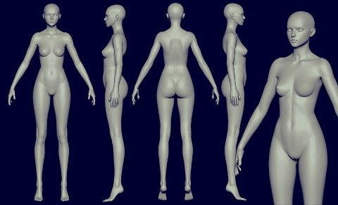 Free Athletic Female for sculpting